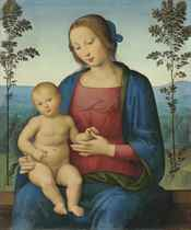 The Madonna and Child in a landscape
