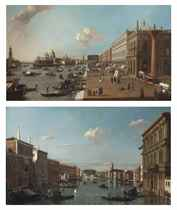 View of the Molo, Venice, looking West; and View of the Grand Canal, Venice, looking North-West from the Palazzo Vendramin-Calergi to San Geremia and the Palazzo Flangini