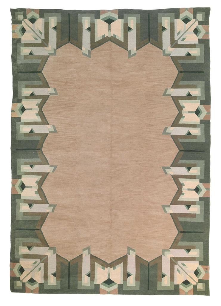39 imperial borders 39 a wool rug after a design by frank lloyd wright circa 1995 interiors - Frank lloyd wright rugs ...