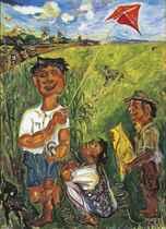 Anak Bermain Layangan (Boys with Kites)