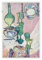 Still life of a set dining room table