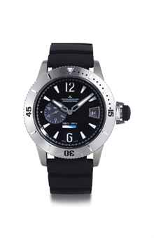 JAEGER-LECOULTRE. A TITANIUM AUTOMATIC DIVING WRISTWATCH WITH GMT AND DATE