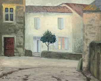 Andr lhote 1885 1962 la maison blanche for Andre maurois la maison