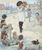 Six illustrations for 'Hans in Luck' by the Grimm brothers (one illustrated)
