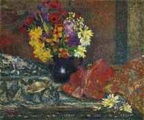 Bouquet au pot bleu
