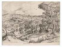 After Pieter Bruegel the Elder by Jan van Doetecum the Elder