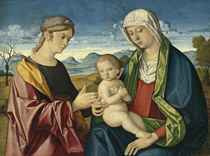 The Madonna and Child with a Female Saint
