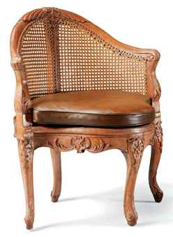 chaise de bureau louis xv