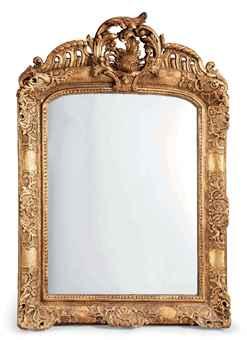 Miroir dans un cadre de style louis xv comprenant des for Cadre miroir