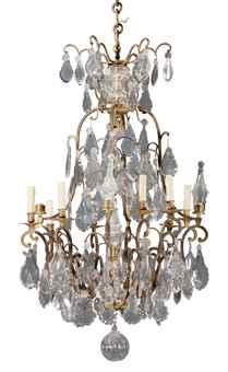 lustre de style louis xv xixeme siecle 19th century furniture sculpture works of art. Black Bedroom Furniture Sets. Home Design Ideas