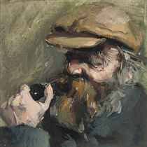 Diogenes smoking