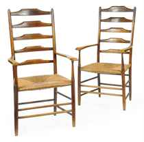 A PAIR OF ARTS AND CRAFTS ASH CLISSETT CHAIRS