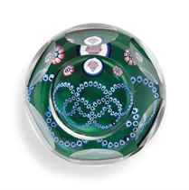 SIX WHITEFRIARS MILLEFIORI 'OLYMPIAD' PAPERWEIGHTS