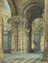 The interior of St Paul's Cathedral, London
