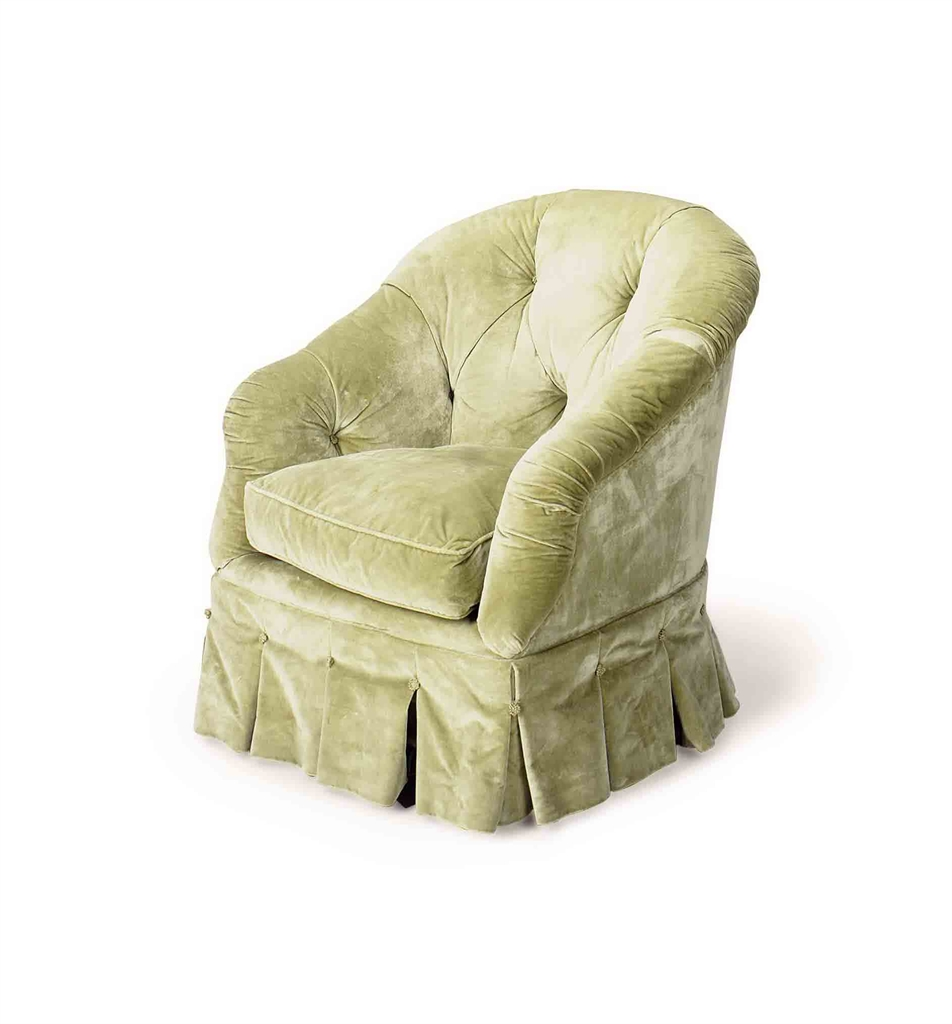 A button tufted sea green velvet upholstered club chair for Button tufted velvet chaise settee green