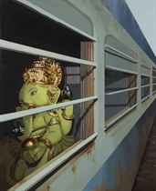 Untitled - I (Ganesha on a Train)