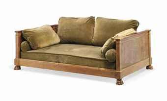 lit de repos de style empire xxeme siecle old master british paintings auction furniture. Black Bedroom Furniture Sets. Home Design Ideas
