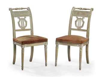 Paire de chaises d 39 epoque directoire vers 1790 for Chaise directoire
