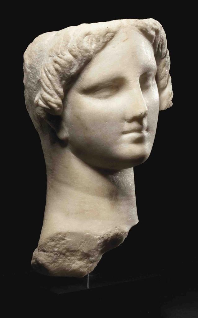 Terracotta figurine of Isis Aphrodite. Egyptian Ptolemaic