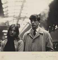 Portrait of Rosie and Christopher Barker, from the feature 'Bored Teenagers' for About Town magazine, Paddington Station, London, 1962