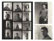 Sebastian Barker, two portraits and a contact sheet, 1961