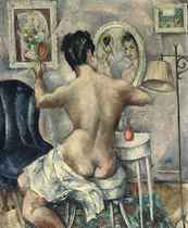 Nude seated in her Boudoir
