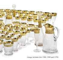 A MOSER 'SPLENDID-PATTERN' GLASS PART TABLE-SERVICE