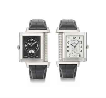 Jaeger-LeCoultre. A stainless steel limited edition Reverso dual time zone wristwatch with date