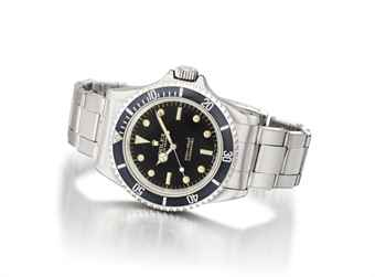 Rolex. An attractive stainless steel automatic wristwatch with sweep centre seconds, bracelet and black gloss dial
