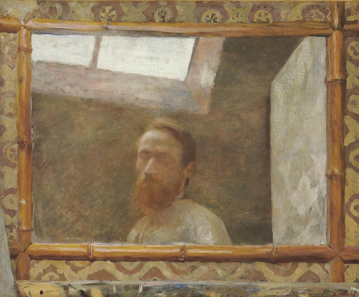 Edouard vuillard 1868 1940 autoportrait au miroir de for Autoportrait miroir