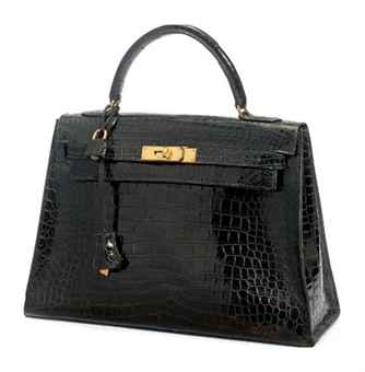 A BLACK CROCODILE \u0026#39;KELLY\u0026#39; BAG | HERM¨¨S, 1962 | 20th Century, bags ...
