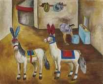 Los caballitos pony en su camerino
