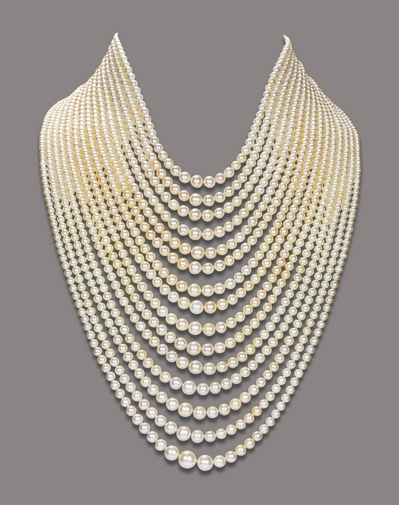 a natural pearl necklace necklace pearl christie 39 s. Black Bedroom Furniture Sets. Home Design Ideas