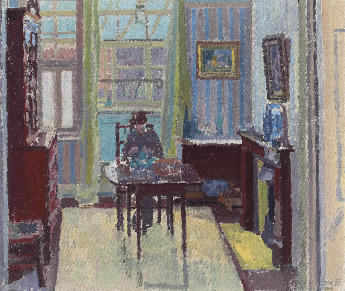 Spencer Frederick Gore 1878 1914 Interior Of Room At 6 Cambrian Road Richmond Modern