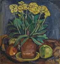 Primelstock und Äpfel, 1911