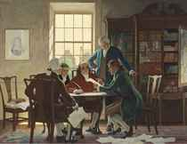 Drafting the Declaration of Independence--1776