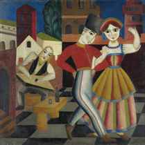 The dance (recto) and A cubist portrait (verso)