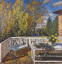 The terrace in autumn
