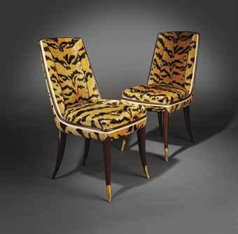 emile jacques ruhlmann 1879 1933 paire de chaises. Black Bedroom Furniture Sets. Home Design Ideas