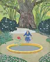 She saw, in the fountain of pure gold, her sea rose, from 'The Story of the Sea Rose and the Chinese Adolescent'