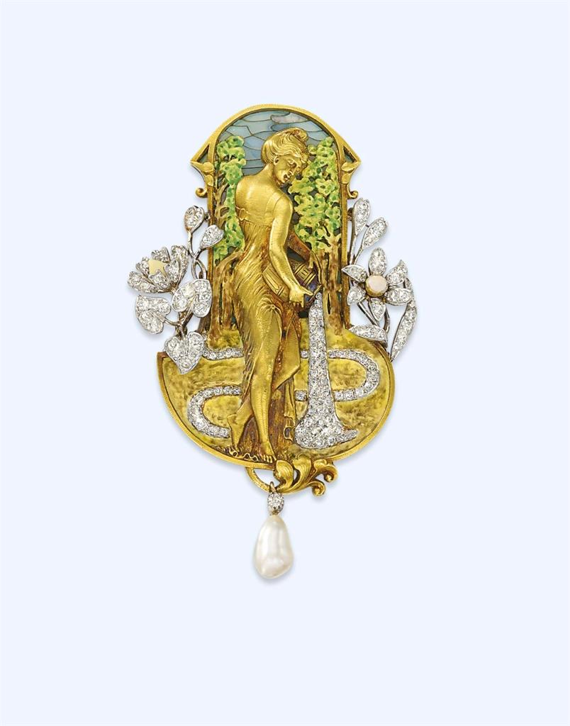 nouveau jewelry on nouveau enamels and deco