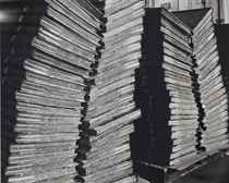 Four Stacks of Bound Newspapers, 2001