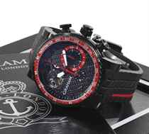 Graham. A Limited Edition Stainless Steel Black PVD Coated Chronograph Wristwatch With Tourbillon