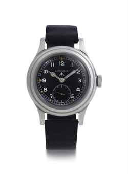 Longines. A Stainless Steel Military Wristwatch