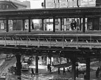 Chatham Square El Station, 1946