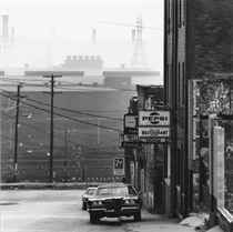 Youngstown, Ohio, Street by Steel Mills, 1970; and Bloomfield Bridge, Pittsburgh, Pennsylvania, 1960