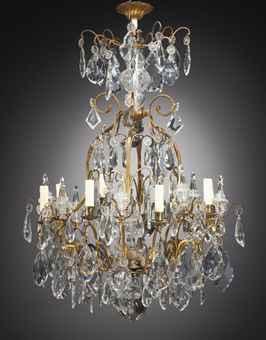 lustre cage de style louis xv chandelier furniture lighting christie 39 s. Black Bedroom Furniture Sets. Home Design Ideas
