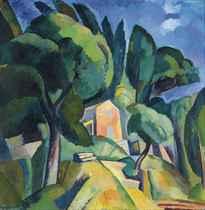 Paysage provençal (recto); Femme nue (verso)