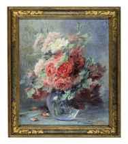 Still life of roses in a vase