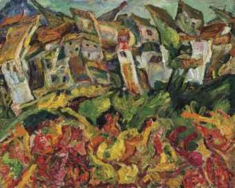 Best Buy Private Auction >> Chaïm Soutine (1893-1943)   Maisons aux toits pointus ...